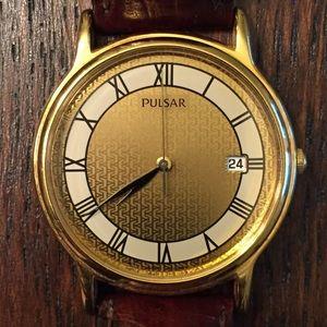Vintage Pulsar Date Dress Watch.